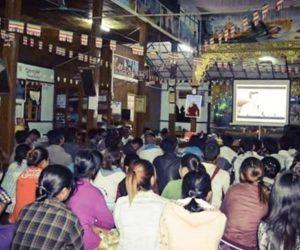 The Team Myanmar ဇာတ်ကား ပြည်နယ် ကျေးရွာများတွင်လိုက်လံပြသ